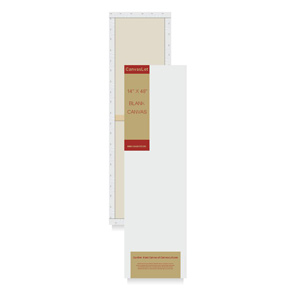 14 X 48 White Stretched Canvas Canvaslot