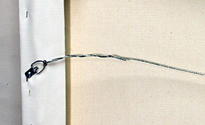 Primed Canvas Hanging Wire