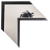Silver Black Canvas Frame