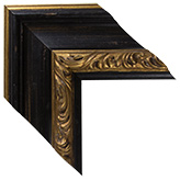 Black Gold Canvas Frame