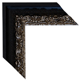 Black Silver Canvas Frame