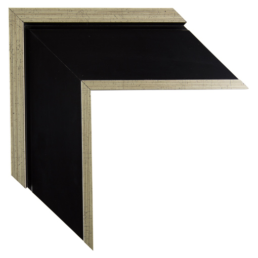 Black Silver Open Canvas Frame 3 Inch Custom Size Available