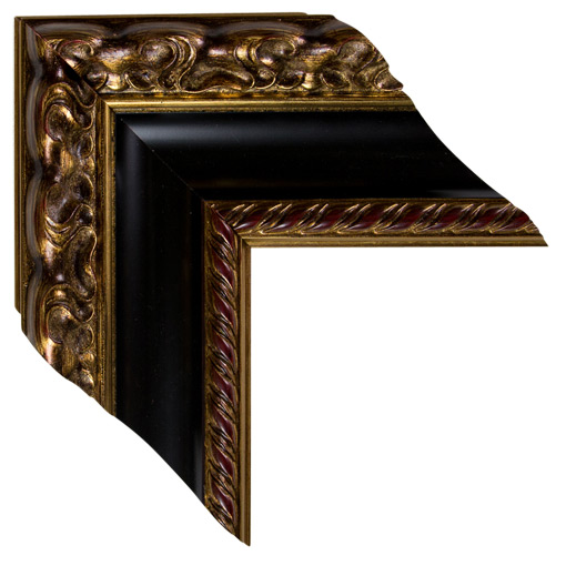 Black Gold Open Canvas Frame 5 Inch Custom Size Available