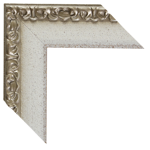 White Silver Open Canvas Frame 2 3/4 Inch. Custom Size Available ...